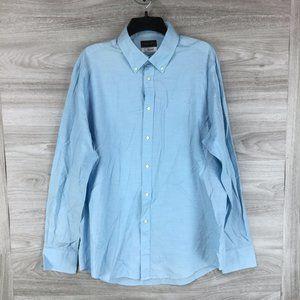 Thomas Dean Blue Button Down Shirt